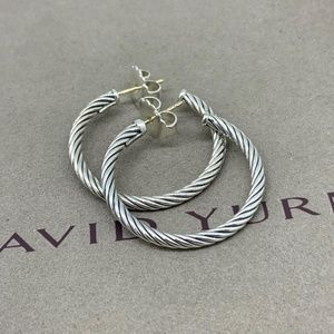 David Yurman Cable Cross Earrings